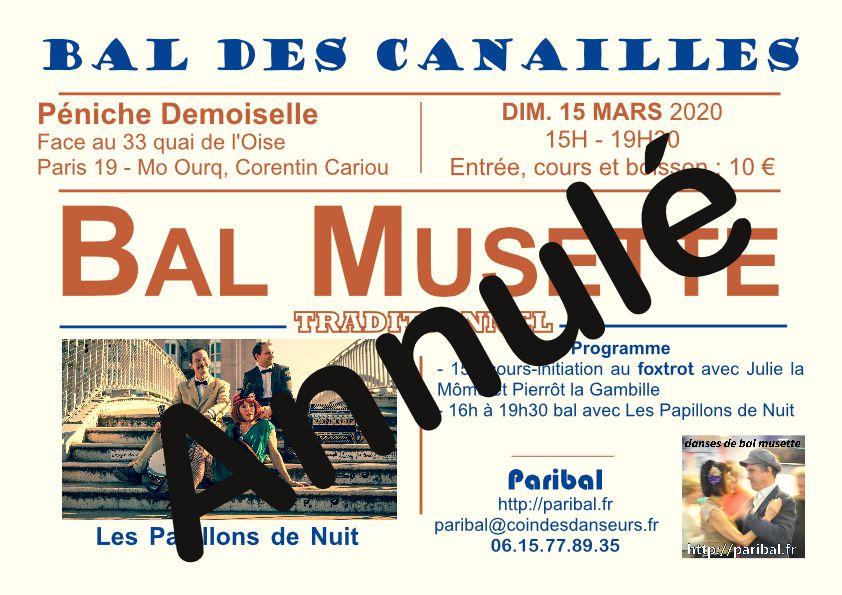Bal des Canailles annulé